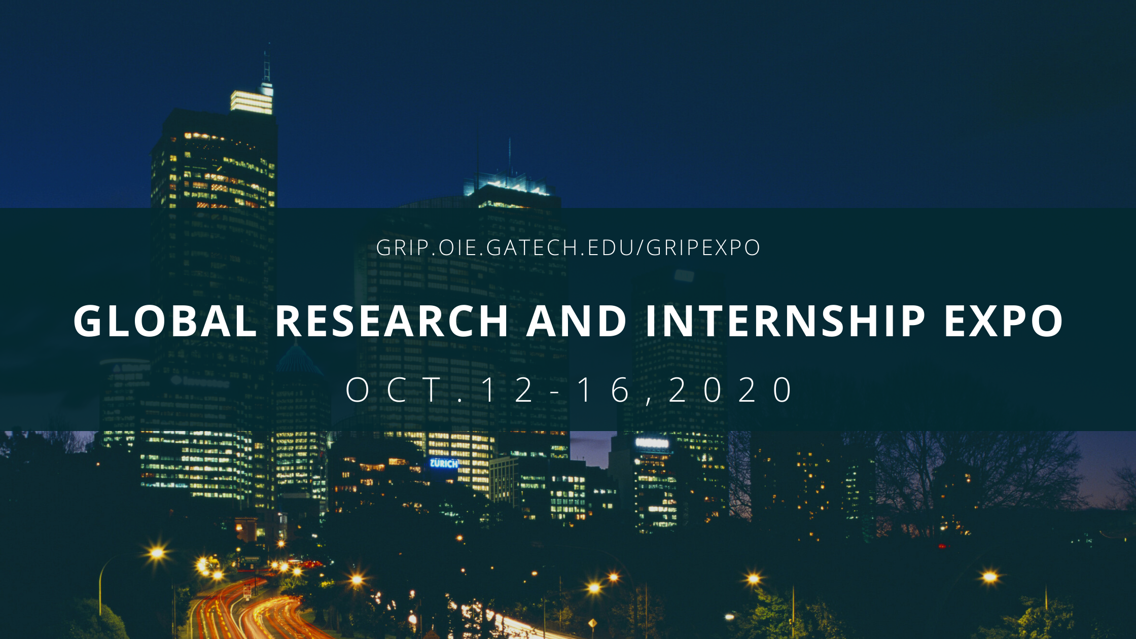 Global Research and Internship Expo- October 12-16, 2020